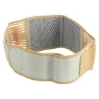 Self-Heating Waist Protector Band w/ Velcro - Ivory + Brown