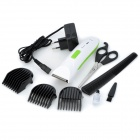 HD-8806 Electric 3W Hair Trimmer Clipper - White + Green (EU Plug)