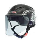Cool Motorcycle Outdoor Sports Racing UV Protection Helmet - Black + White