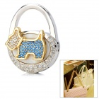 S-17 Dog Style Zinc Alloy + Rhinestone Bag Hanger - Silver + Golden