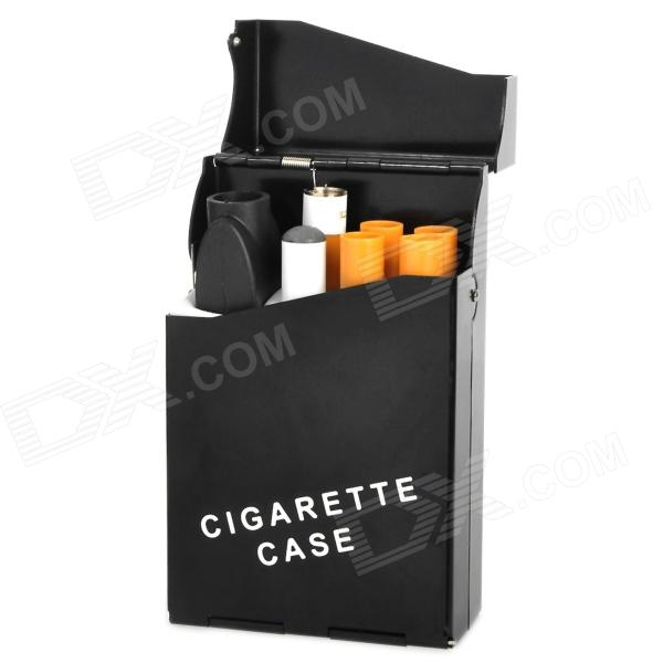 Rechargeable 280mAh 555 Flavor Electronic Cigarette w/ Refills - White + Yellow