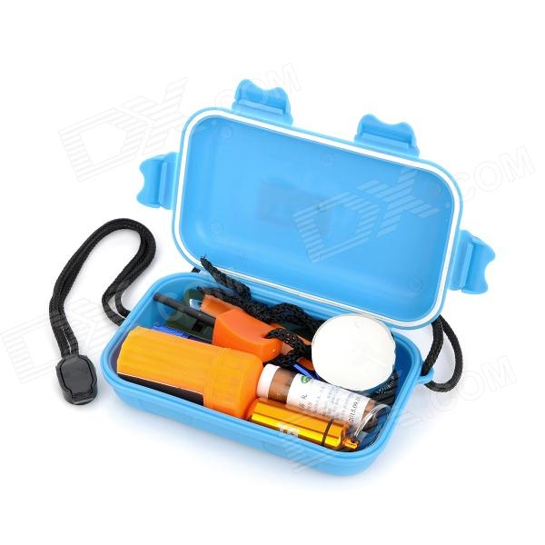 Emergency First Aid Kit Bag Survival Tool Set - Blue
