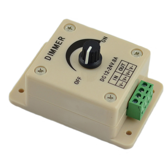 1-CH 96W Manual LED tira dimmer - blanco (DC 12 ~ 24V)