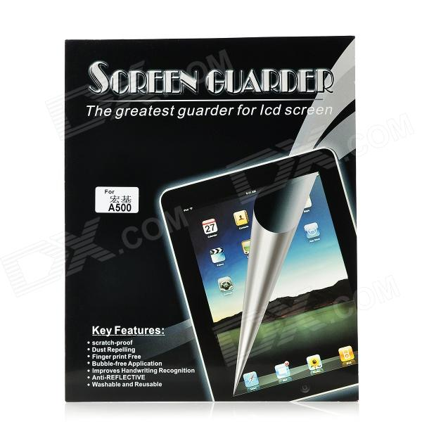 Protective Glossy PET Screen Protector w/ Cleaning Cloth for Acer Iconia Tab A500 - Transparent