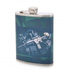 Stainless Steel Curved Pocket Liquor Flask (8oz)