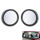 Convex Wide Angle Car Blind Spot Mirror - Black (2 PCS)