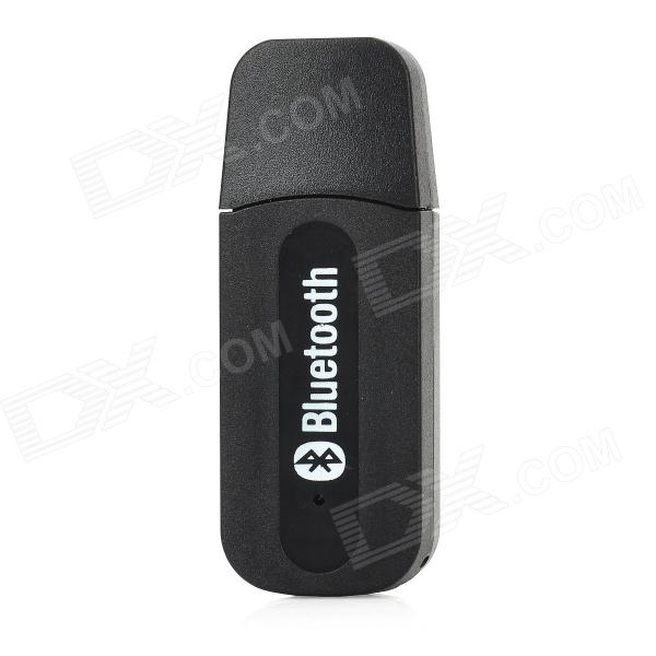 Bluetooth V2.0+EDR USB Drive Audio Receiver w/ 3.5mm Audio Male to Male Cable - Black