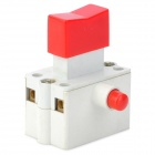 DIY 10A Push Button Switch w / Lock - Red + White (AC 220 ~ 380V)