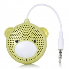 AOPU A-30 Bear Style Single-Channel Mini Speaker - Pale Goldenrod + White