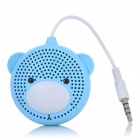 AOPU A-30 Bear Style Single-Channel Mini Speaker - Blue + White