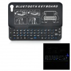 K3554 Super Slim Bluetooth V3.0 Wireless Slide-out 50-Key Keyboard for Iphone 5 - Black