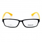 HALEI 9035 Fashion Unisex Resin Lens TR90 Frame Glasses Goggles - Black + Yellow