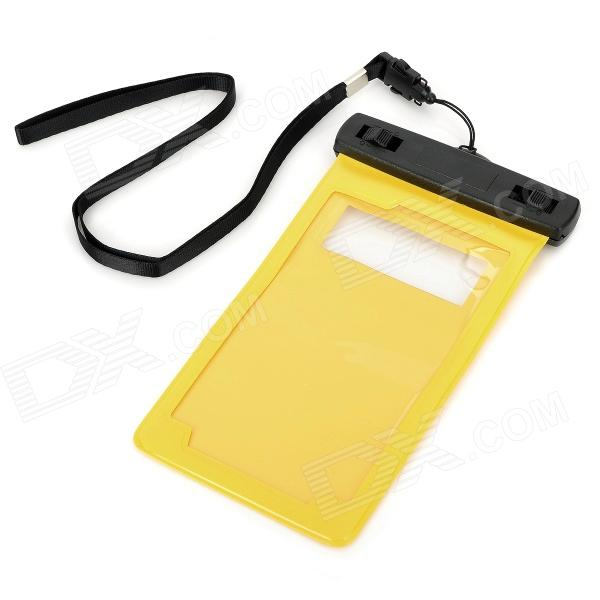 Protective Water Resistant PVC + ABS Bag for Samsung i9220 / i9100 / i9300 - Yellow + Black