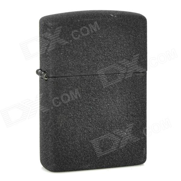 Stylish Frosted Surface Fluid Fuel Lighter - Black