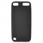 Antiskid Tread Protective Silicone Soft Back Case for Ipod Touch 5 - Black