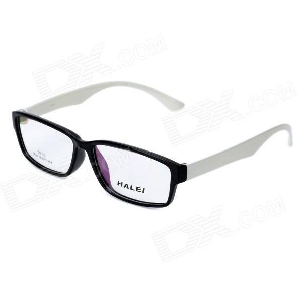 Glasses Frame Black And White : HALEI 9035 Fashion Unisex Resin Lens TR90 Frame Glasses ...