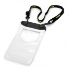 Protective Water Resistant PVC Bag for Samsung / HTC / Iphone + More - White + Black