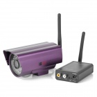 Wireless Audio Video Transmitter Kit w/ Camera / Antennas - Black + Purple
