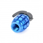 Universal Cool Grenade Shaped Motorcycle Tire Valve Caps - Blue (4 PCS)