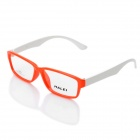HALEI 9035 Fashion Unisex Resin Lens TR90 Frame Glasses Goggles - Orange + White