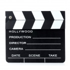 Wooden Hollywood Directors Movie Action Scene Clapper Board - Black + White