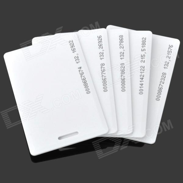 PC002 TK4100COB 125kHz Blank ID-kort - Vit (Fat Version / 5 PCS)