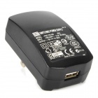 Lidu L-M1 USB US Plug Power Adapter w/ Micro USB Cable - Black (100~240V / 1A)