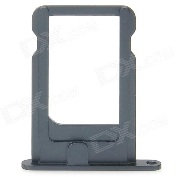 Replacement Aluminum Alloy Card Tray Holder for Iphone 5 - Black