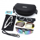 Hasky Outdoor Sports Protective Polarized Goggles w/ 4 Pair of Lens