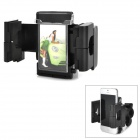 Bicycle 360 Degree Rotating Plastic + Iron Mount Holder Support for GPS / Cell Phone / MP4 - Black