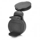 Universal 360 Degree Rotatable Car Swivel Mount Holder w/ USB Car Charger - Black