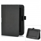 Stylish Protective PU Leather Flip-Open Carrying Case w/ Stand for Kindle Fire HD - Black