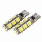 DianZi F113C W T10 2.34W 299lm 13-SMD 5050 LED White Light Car Clearance Lamp (2 PCS / 12V)