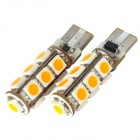 DianZi F113C Y T10 2.34W 169lm 585nm 13-SMD 5050 LED Yellow Light Car Decoration Lamps (2 PCS / 12V)