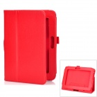 Stylish Protective PU Leather Flip-Open Carrying Case w/ Stand for Kindle Fire HD - Red