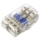 Fuse Holder Distribution Block for Car Audio System - Silver