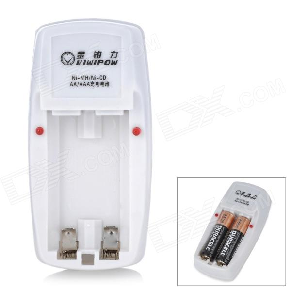 Viwipow 2 x AA / AAA Battery Charger - White