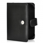 Stylish Protective PU Leather Flip-Open Carrying Case w/ Buckle for Amazon Kindle 4 - Black