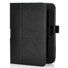 Stylish Protective PU cuero Flip-Open Funda w / hebilla para Amazon Kindle 4 - Negro