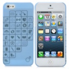 Romantic Various Life Gadgets Pattern Protective ABS Case with Screen Protector for iPhone 5
