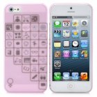 Romantic Various Life Gadgets Pattern Protective ABS Case with Screen Protector for iPhone 5 - Pink