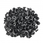 Plastic Universal 17mm Car Door Panel Push Type Retainers Trim Clips Kit - Black (100 PCS)