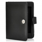 Stylish Protective PU Leather Flip-Open Carrying Case w/ Buckle for Kindle 5 - Black