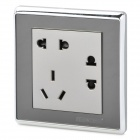 SMEONG Modern 3-Power Socket Wall Mount Plate - Silver (AC 250V)