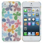 Beautiful Butterfly Pattern Protective ABS Case with Screen Protector for iPhone 5