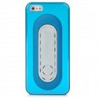 PG010 Plastic Metal Brushed Protective Hard Back Case for Iphone 5 - Blue
