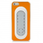 PG010 Plastic Metal Brushed Protective Hard Back Case for Iphone 5 - Golden + White