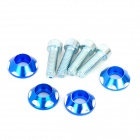 DIY 6mm Cool Motos tornillos de montaje - Azul (4 PCS)
