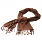 Fashion Cotton + Flax Schal - Coffee