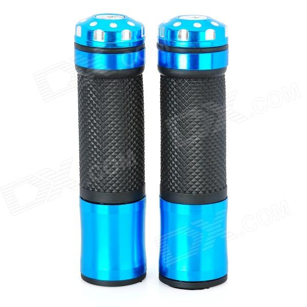 Universal Motorcycle Handle Grip - Blue + Black (2 PCS)